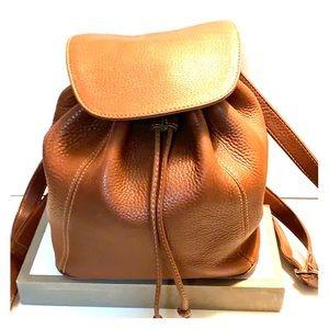 Vintage coach genuine leather back pack purse
